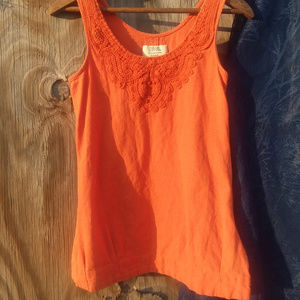 Discovery Clothing Petite Orange Sleeveless